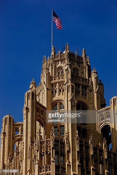 Tribune Tower Close Up 200mm lens, Chicago, Illinois
