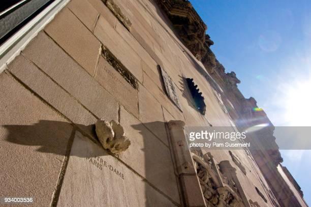 tribune tower facade, chicago, il - inclinando se - fotografias e filmes do acervo