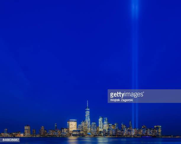 tribute in light 2017 - 911 remembrance stock pictures, royalty-free photos & images