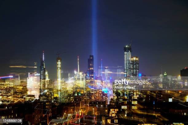 tribute in light - terrorism stock pictures, royalty-free photos & images
