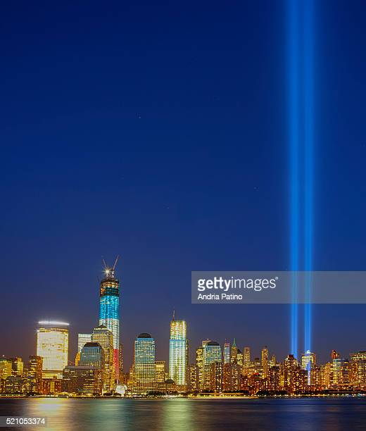 tribute in light - world trade center memorial stock pictures, royalty-free photos & images
