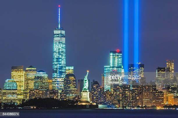 WTC Tribute in Lights, New York City, Downtown Manhattan