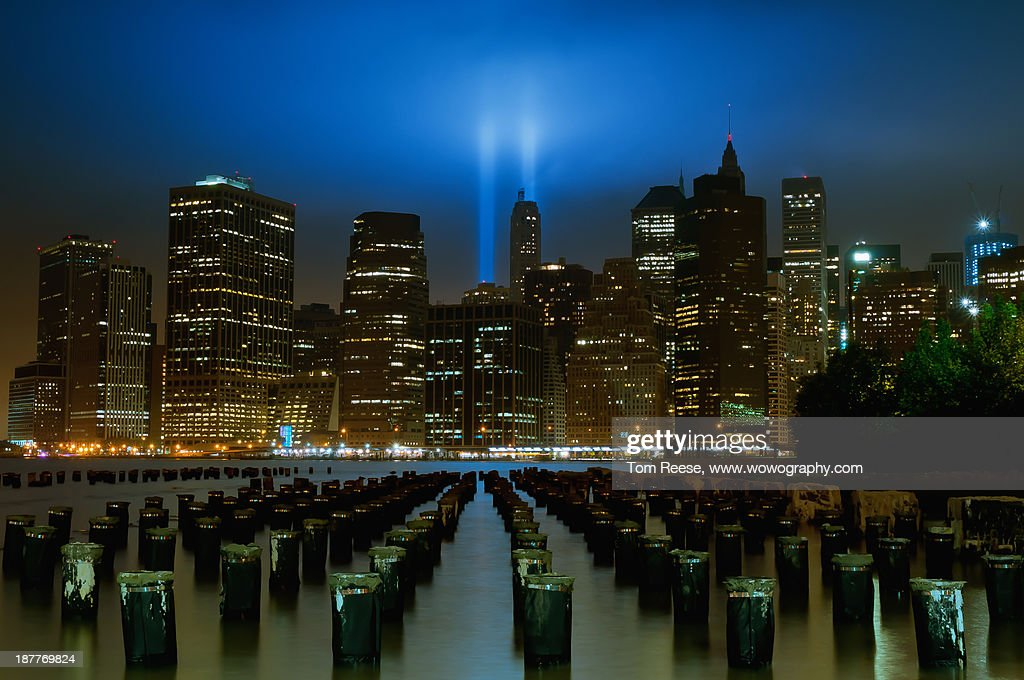 9-11-11 Tribute in Lights : Stock Photo