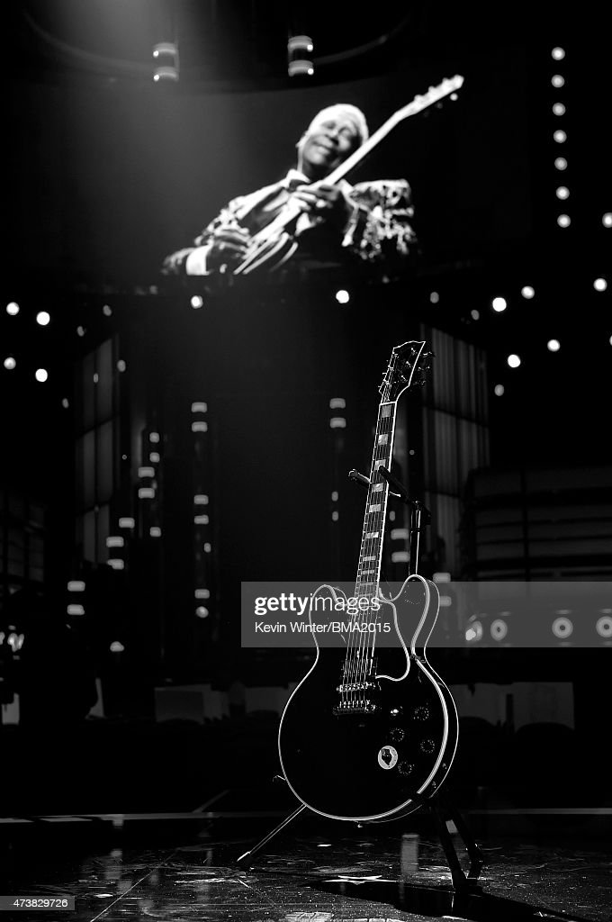 A tribute to B.B. King onstage during the 2015 Billboard Music Awards at MGM Grand Garden Arena on May 17, 2015 in Las Vegas, Nevada.
