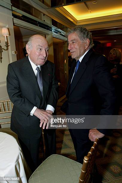 Tribute to Bobby Short a cocktail party at the Carlyle Hotel on Tuesday night May 3 2005This imageFrom left George Wein and Tony Bennett