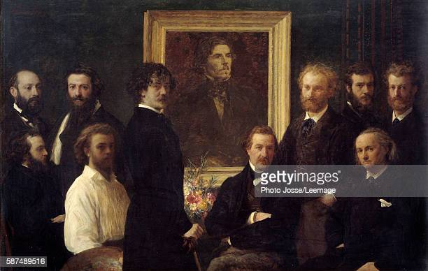 Tribute to Eugene Delacroix The characters represented are Louis Edmond Duranty James Abbott Mac Neill Whistler Champfleury Jules Husson Edouard...