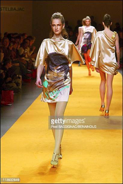 A tribute to Fashion Designers Jean Charles de Castelbajac FallWinter 20042005 readytowear Fashion Show in Paris France On March 07 2004Hommage to...