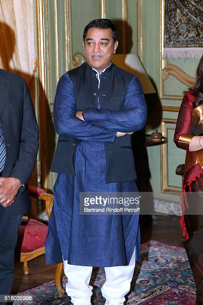 Tribute to Indian actor and director Kamal Haasan during the 'International meetings of the Heritage Cinema Henri Langlois' Price' on March 29 2016...