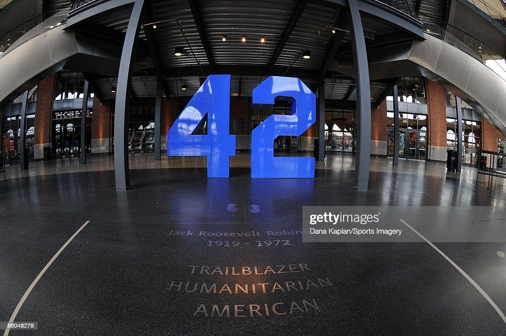 Tribute to Jackie Robinson at Citi Field before a game