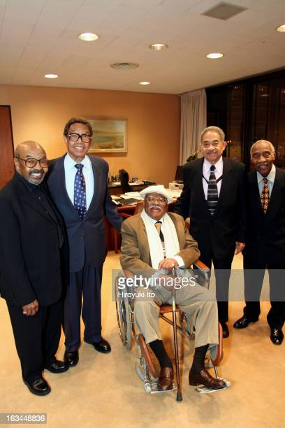 """Tribute to Jazz Legends"""" at the Juilliard School on Tuesday night, February 27, 2007.From left, James Moody, Billy Taylor, Clark Terry, Frank Wess..."""