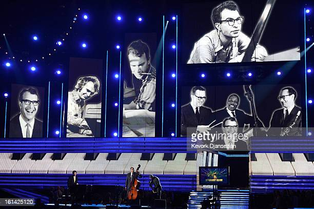 Tribute to late jazz musician Dave Brubeck onstage at the 55th Annual GRAMMY Awards at Staples Center on February 10, 2013 in Los Angeles, California.