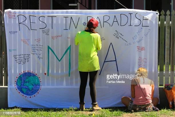 A tribute to Mia AyliffeChung at the Home Hill Backpackers south of Townsville where Smail Ayad allegedly killed British backpacker Mia AyliffeChung...