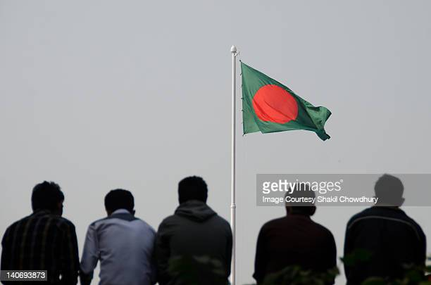 tribute to national flag - savar stock pictures, royalty-free photos & images