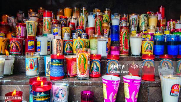 a tribute to our lady of guadalupe - basilica of our lady of guadalupe stock pictures, royalty-free photos & images
