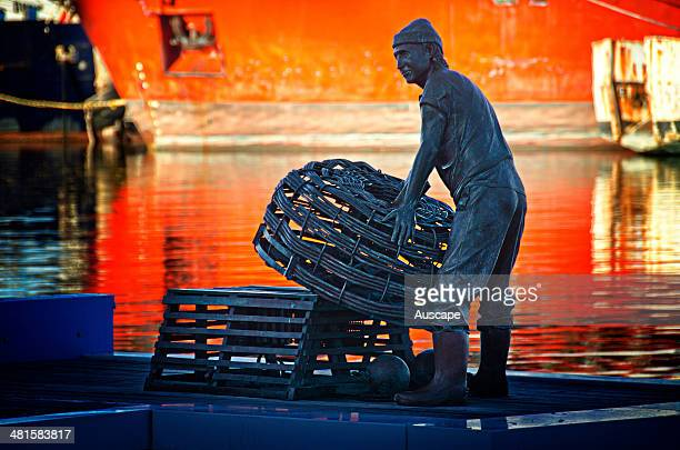 A tribute to the State's pioneering and modern professional fishermen on a memorial jetty in the Fishing Boat Harbour Fremantle Western Australia