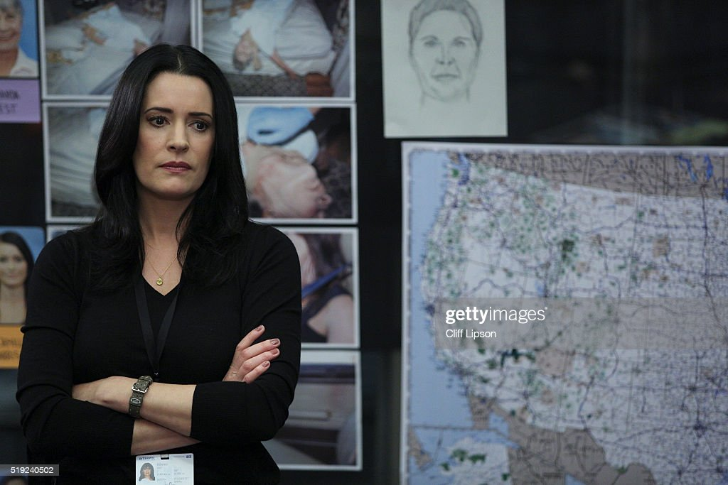 MINDS - 'Tribute' -- When former BAU team member and current Interpol agent Emily Prentiss tracks an international serial killer, she enlists the help of her friends at the BAU after she is convinced the UnSub's next victim is on American soil, on CRIMINAL MINDS, Wednesday, March 30 (9:00-10:00 PM, ET/PT) on the CBS Television Network. PAGET