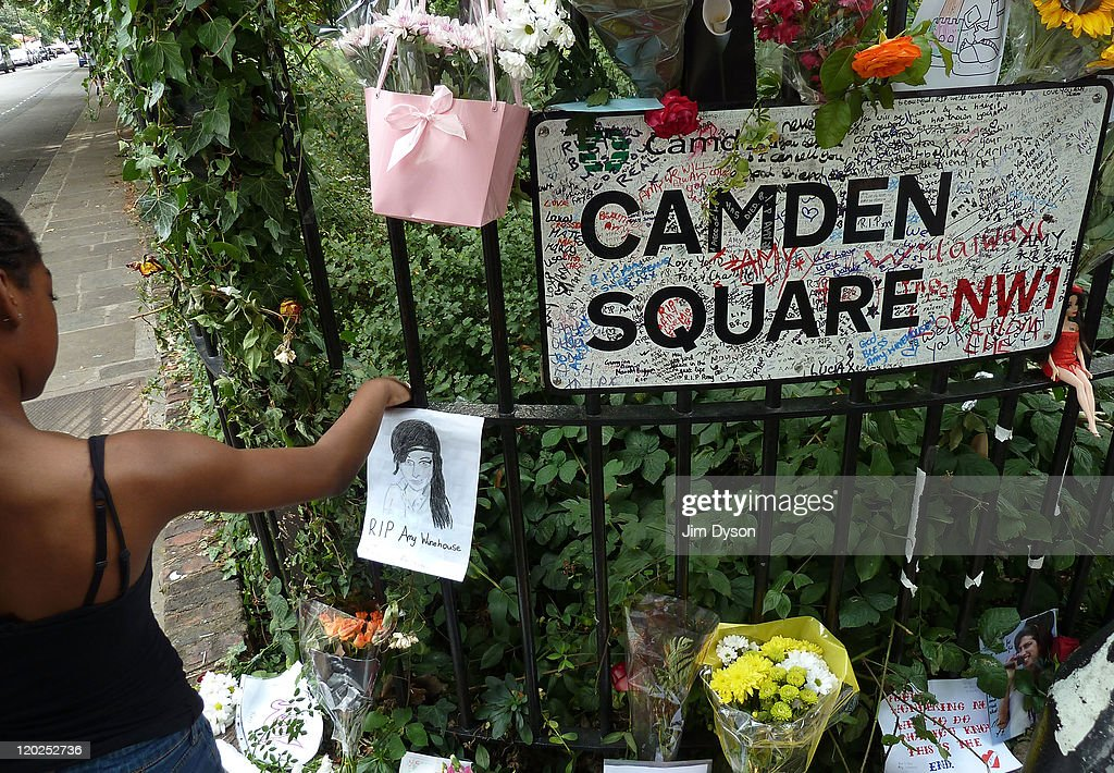 Tributes To The Late Amy Winehouse At Her Home In North London : News Photo