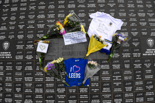 GBR: Tributes to Jack Charlton at Elland Road home of Leeds United