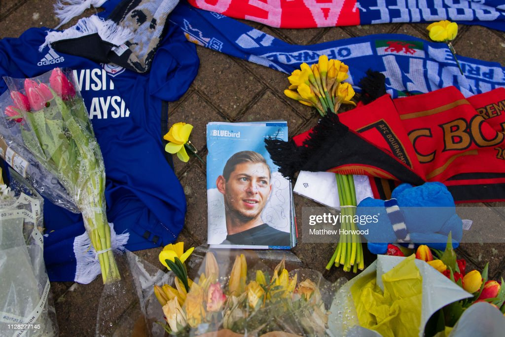 Tributes Are Made To Cardiff City's Emiliano Sala : News Photo