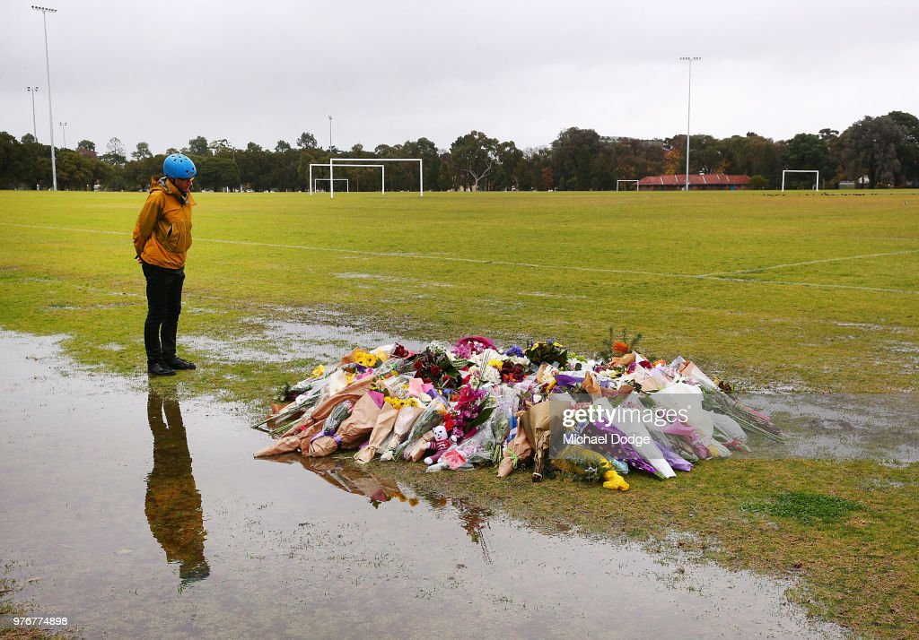 Tributes To Eurydice Dixon At Princes Park In Memoriam