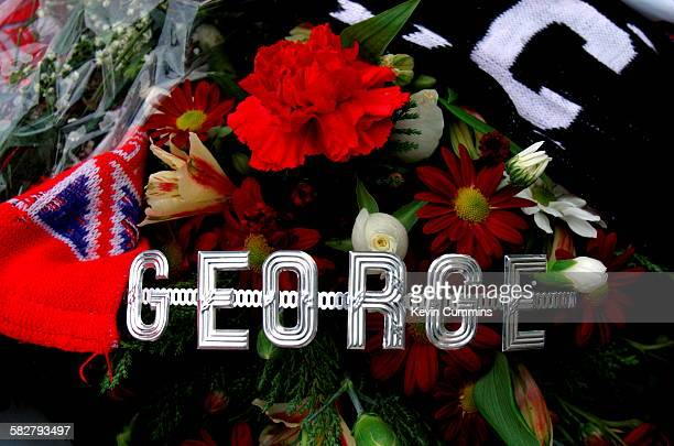 Tributes to Northern Irish footballer George Best following his death at the Cromwell Hospital South Kensington London November 2005