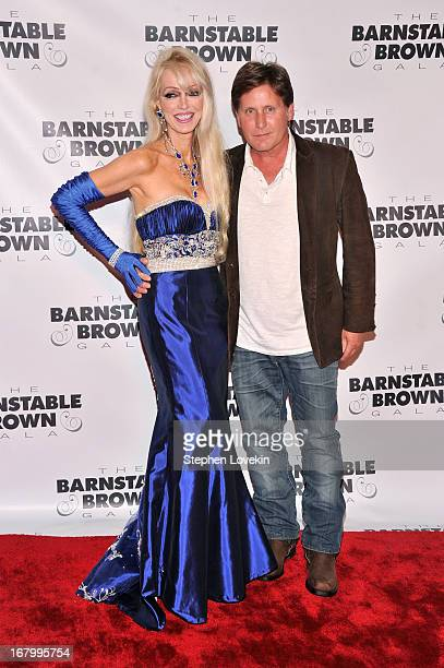 Tricia Barnstable Brown and Emilio Estevez attend the 2013 BarnstableBrown Derby gala at BarnstableBrown House on May 3 2013 in Louisville Kentucky