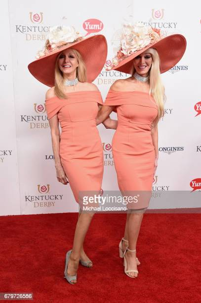 Tricia Barnstable Brown and Priscilla 'Cyb' Barnstable attend the 143rd Kentucky Derby at Churchill Downs on May 6 2017 in Louisville Kentucky