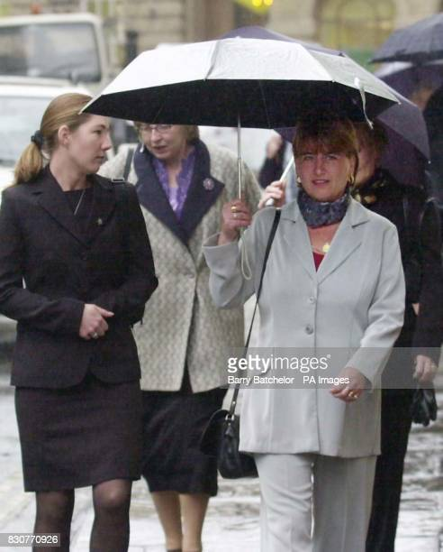 Tricia Boyd girlfriend of Paul Stewart and Dawn Williams wife of Jeff Williams arrive at Bristol Crown Court Yarm Road Ltd formerly known as Kvaerner...