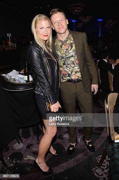 Tricia Davis and recording artist Macklemore attend the 56th annual GRAMMY Awards PreGRAMMY Gala and Salute to Industry Icons honoring Lucian Grainge...