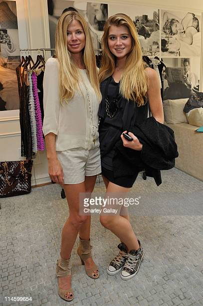 Tricia Griffin and daughter Farah attend the preview of Melissa Odabash's Spring/Summer 2010 Swimsuit and ReadyToWear line hosted by Neuro at the...