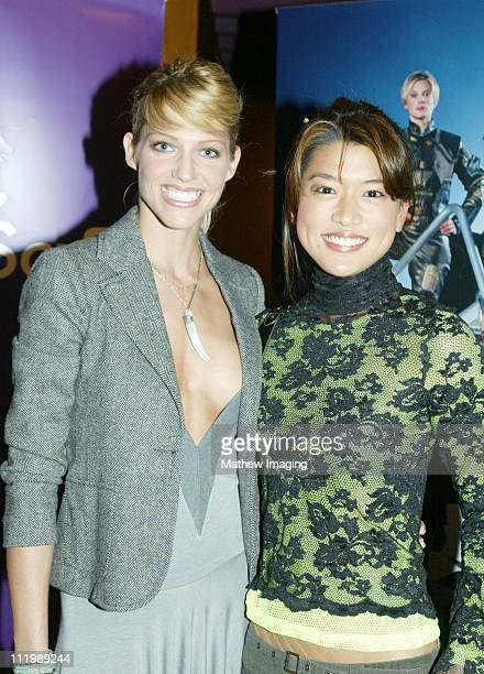 """Tricia Helfer and Grace Park during """"Battlestar Galactica"""" - Los Angeles Premiere at The Directors Guild of America in Los Angeles, California,..."""