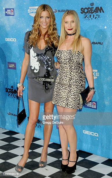 Tricia Helfer and Katee Sackhoff arrive at Spike TV's 'SCREAM 2009' 4th annual event held at the Greek Theatre on October 17 2009 in Los Angeles...