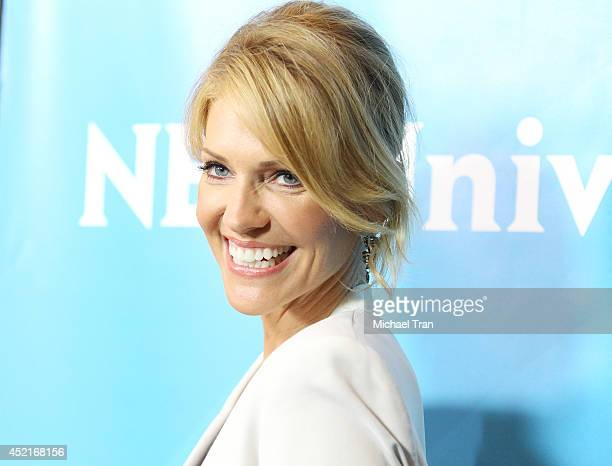Tricia Helfer arrives at the 2014 Television Critics Association Summer Press Tour NBCUniversal Day 2 held at The Beverly Hilton Hotel on July 14...