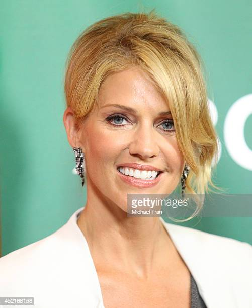 Tricia Helfer arrives at the 2014 Television Critics Association Summer Press Tour - NBCUniversal - Day 2 held at The Beverly Hilton Hotel on July...