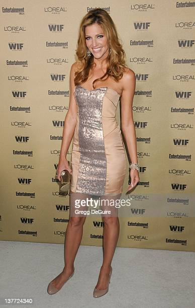 Tricia Helfer arrives at the Entertainment Weekly and Women In Film PreEmmy Party at the 'Restaurant' at the Sunset Marquis Hotel on August 27 2010...