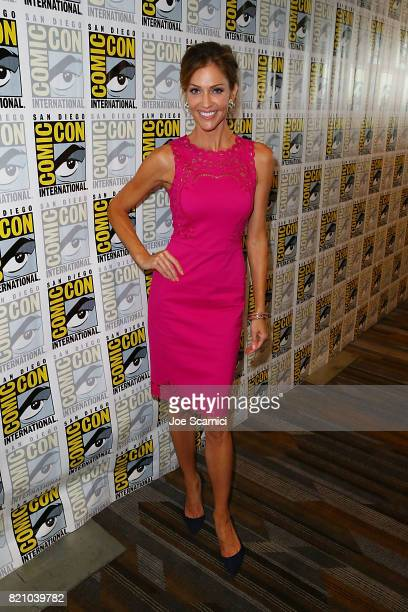 Tricia Helfer arrives at the Lucifer press line at ComicCon International 2017 on July 22 2017 in San Diego California
