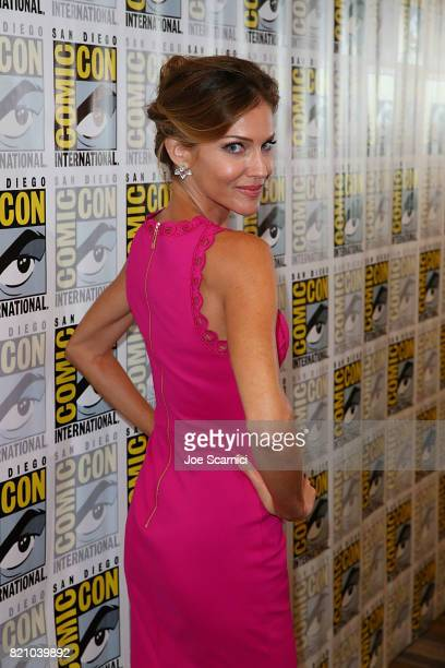 Tricia Helfer arrives at the 'Lucifer' press line at ComicCon International 2017 on July 22 2017 in San Diego California