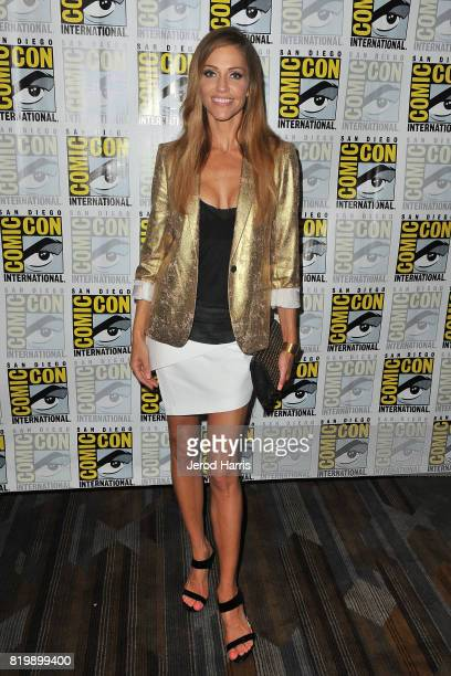 Tricia Helfer attends ComicCon International 2017 Day 1 on July 20 2017 in San Diego California