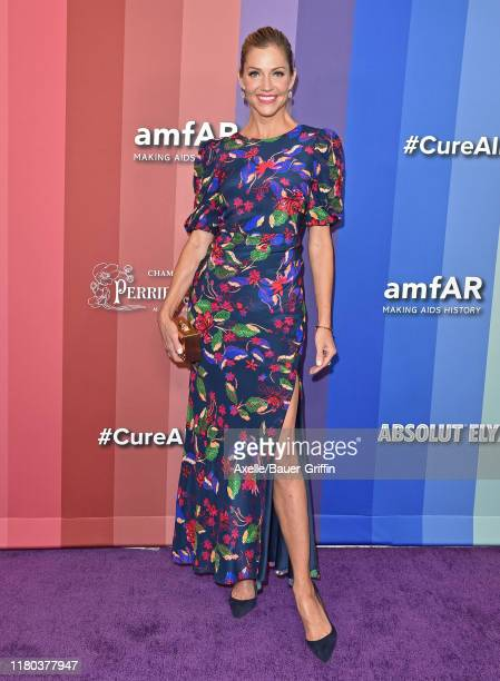 Tricia Helfer attends the 2019 amfAR Gala Los Angeles at Milk Studios on October 10 2019 in Los Angeles California