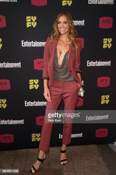 Tricia Helfer attends the closing night reunion panel of Battlestar Galactica and afterparty presented by Entertainment Weekly and SYFY during the...