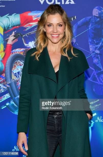 """Tricia Helfer attends the LA Premiere of Cirque Du Soleil's """"Volta"""" at Dodger Stadium on January 21, 2020 in Los Angeles, California."""