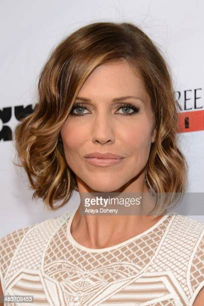 Tricia Helfer attends the premiere of Screen Media Films' 'Authors Anonymous' at Crest Theatre on April 9 2014 in Westwood California