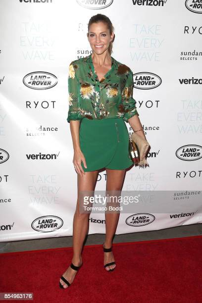 Tricia Helfer attends the Premiere of Sundance Selects' 'Take Every Wave The Life Of Laird Hamilton' at ArcLight Hollywood on September 27 2017 in...