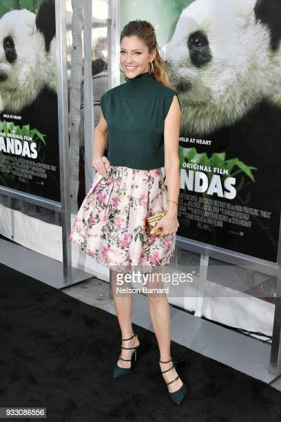 Tricia Helfer attends the premiere of Warner Bros Pictures and IMAX Entertainment's 'Pandas' at TCL Chinese Theatre IMAX on March 17 2018 in...