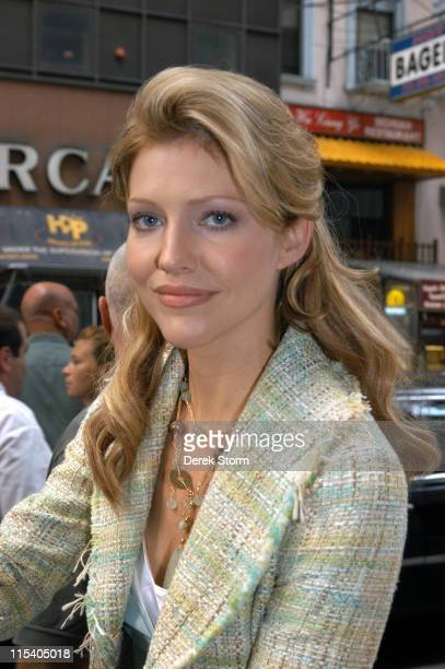 """Tricia Helfer during Carole King, Ben Jones and Tricia Helfer Visit the """"Today"""" Show - July 15, 2005 at Today Show Studios in New York City, New..."""