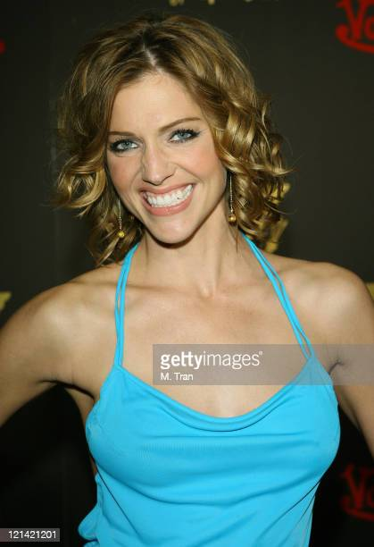 Tricia Helfer during Playboy Magazine February Cover Girl Celebration for Tricia Helfer at Les Deux in Hollywood California United States