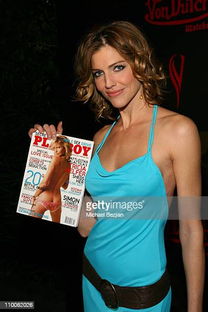 Tricia Helfer during Tricia Helfer of Battlestar Galcatica Party to Celebrate the Release of the February Issue of Playboy at Les Deux in Los Angeles...