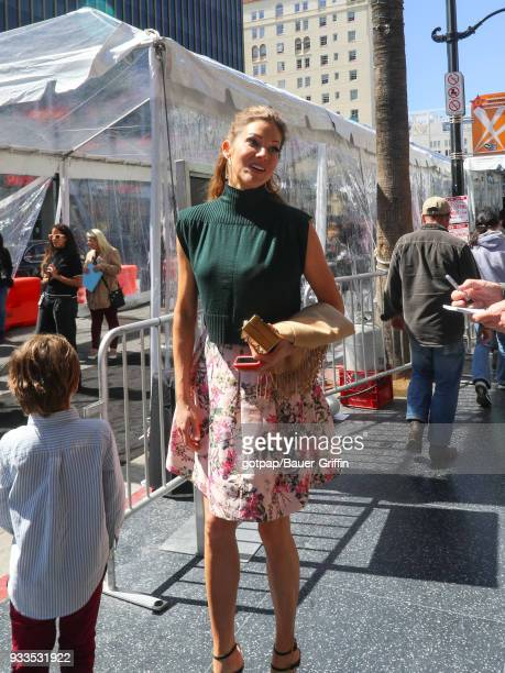 Tricia Helfer is seen on March 17 2018 in Los Angeles California