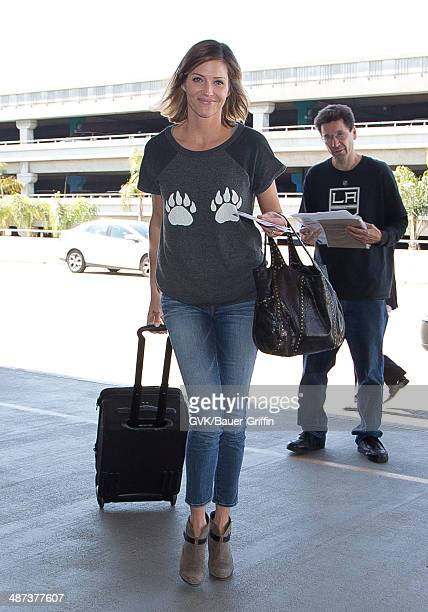 Tricia Helfer seen at LAX on April 29 2014 in Los Angeles California