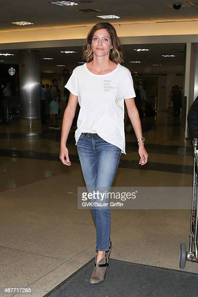 Tricia Helfer seen at LAX on May 01 2014 in Los Angeles California